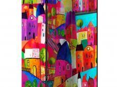 Paraván - Rainbow-hued town [Room Dividers]